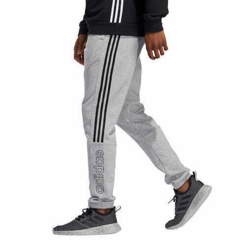 adidas Men's Jogger Pants Sweatpants GT9436 Gray / Black Stripes ...