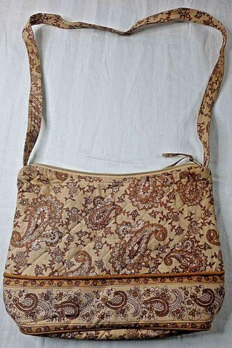 Victorian Heart Women's Tan Paisley Design Bag Qui