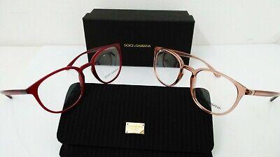 Dolce E Gabbana Occhiale Da Vista Md 5033 Rotondo Rosa Rosso Albicocca €195 Cell Alleviare I Reumatismi