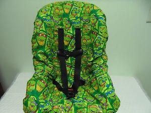 Image Is Loading Ninja Turtle Toddler Car Seat Cover New Handmade