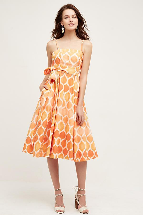 NWT Anthropologie Freya Poplin Dress, by Maeve - Coral, size 4