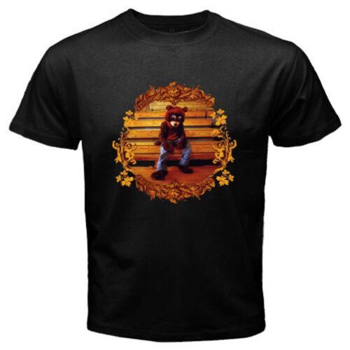 New Kanye West College Dropout Album Rap Hip Hop Men/'s Black T-Shirt Size S-3XL