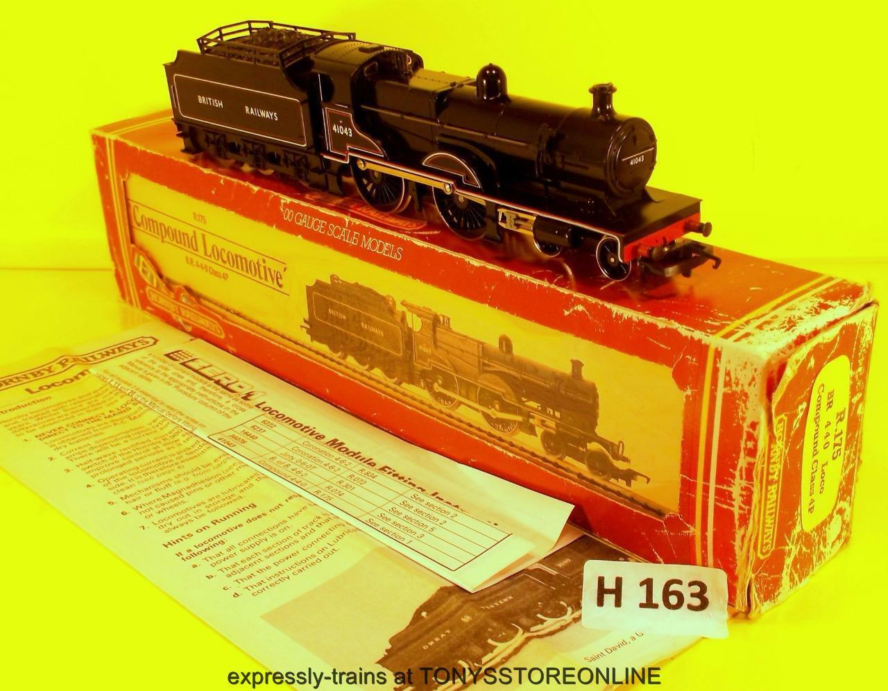 H163) hornby oo r175 cl 4p negro compound 4-4-0 loco nr xclnt in ded box