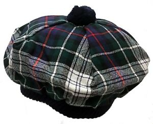 Image is loading MacKenzie-Dress-Clan-Modern-Scottish-Tartan-Tam-Wool 4cc759770428