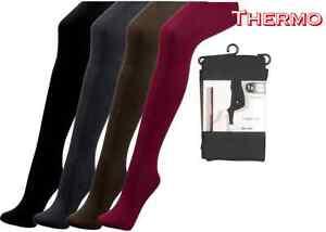 1 Oder 2 Stück Thermo-strumpfhosen, Innen Geraut, 5 Farben,größen S Bis Xxl