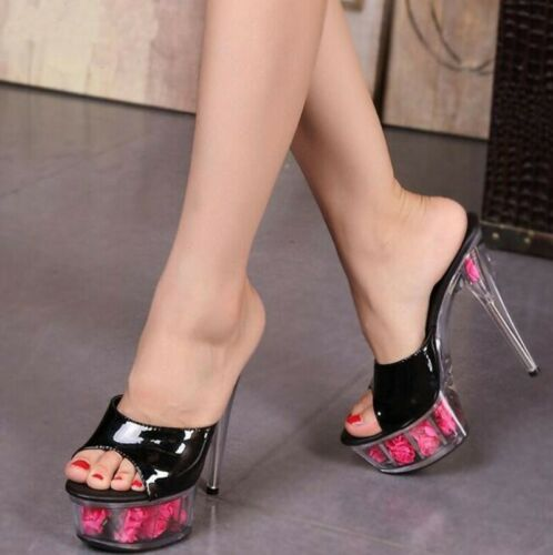 Women/'s Platform Peep Toe Hollow Out Stiletto Heel Flips Flop Slingbacks Shoes