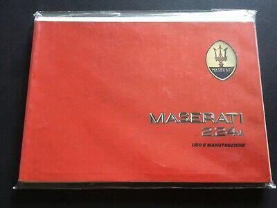 Maserati 2.24v uso manutenzione,1a serie