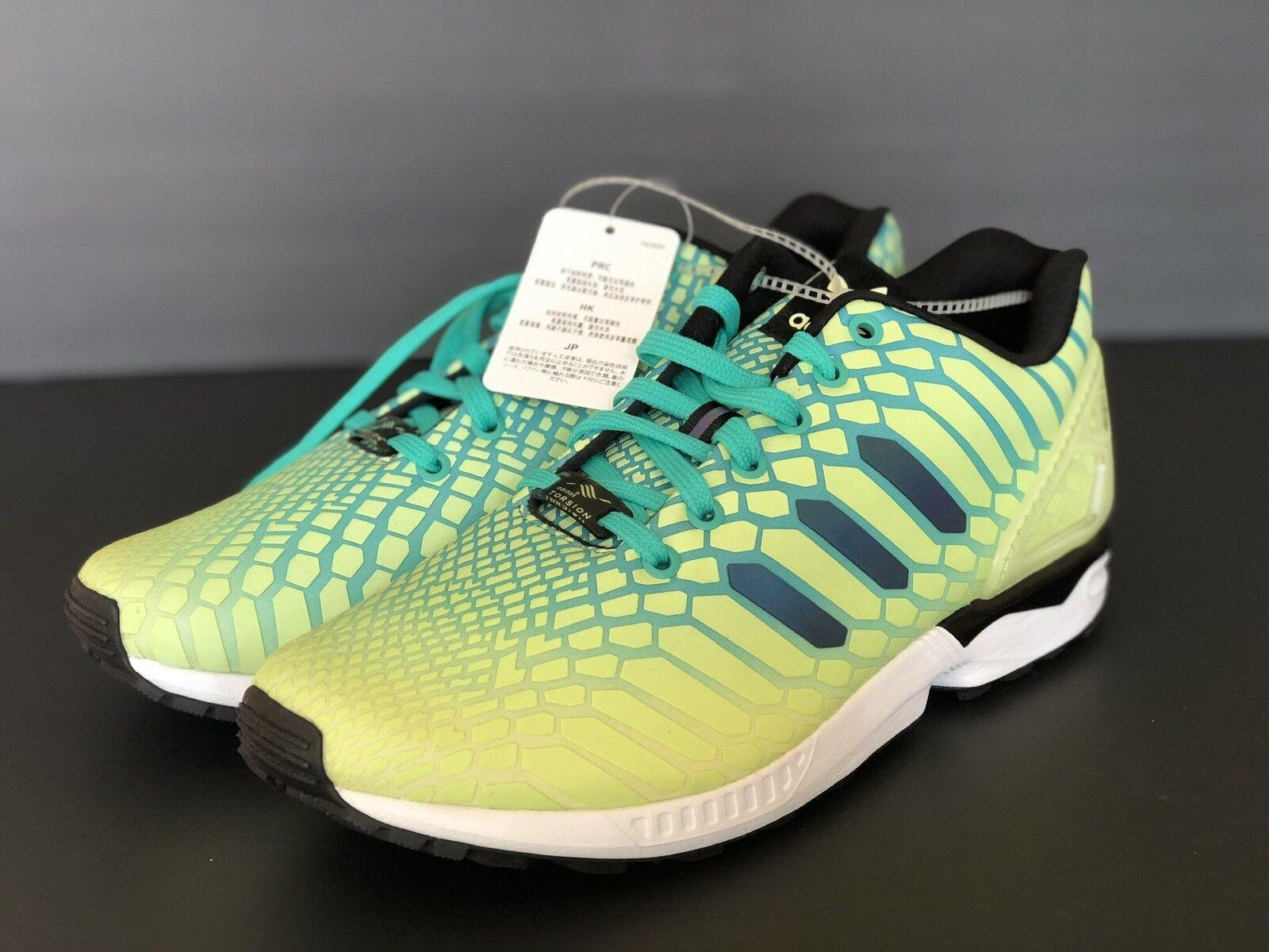 New Adidas ZX Flux Xeno Mens Size 10 Frozen Yellow   Glow In The Dark AQ8212