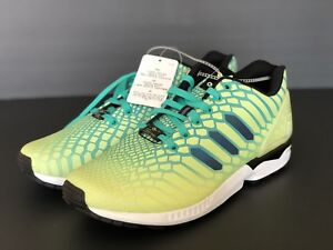 b57f30e0d New Adidas ZX Flux Xeno Mens Size 10 Frozen Yellow   Glow In The ...