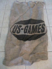 "Burlap Bag Sack 18"" X 34"" Potato Race  Craft Gunny Jute Feed US-GAMES Printed"