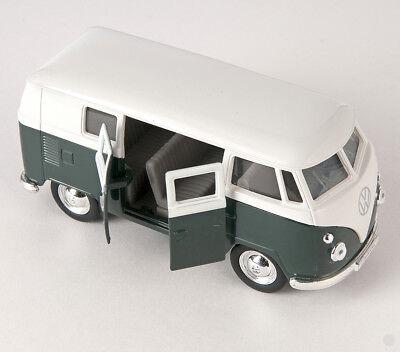 Welly® Volkswagen VW Bulli Transporter ca.1:36 grün Weiß  Neuware in OVP