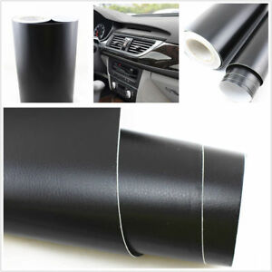 3d black leather texture sheet car auto interior trim vinyl film wrap sticker 6010556681237 ebay for Vinyl wrapping interior trim