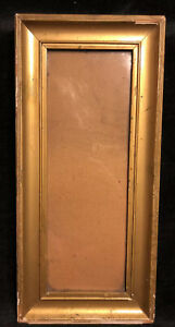 Small-Antique-Gilded-Gold-Gilt-Picture-Frame-Art-Frame-OLD-WAVY-GLASS-13-25-034