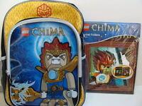 Lego Chima Backpack Book Bag + Pocket Folders Boys School Supplies Set Pack