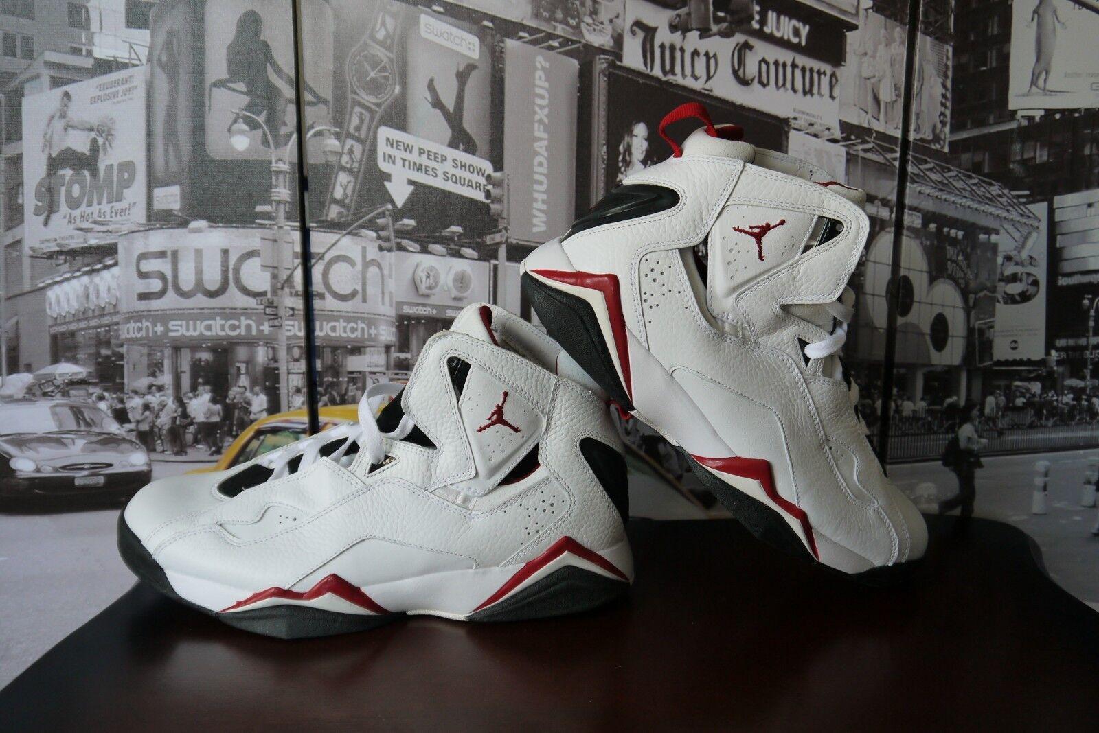 2008 Nike Jordan True True True Flight 343795-161 White Varsity Red SZ BOYS 4.5 Y EU 36.5 90cd66