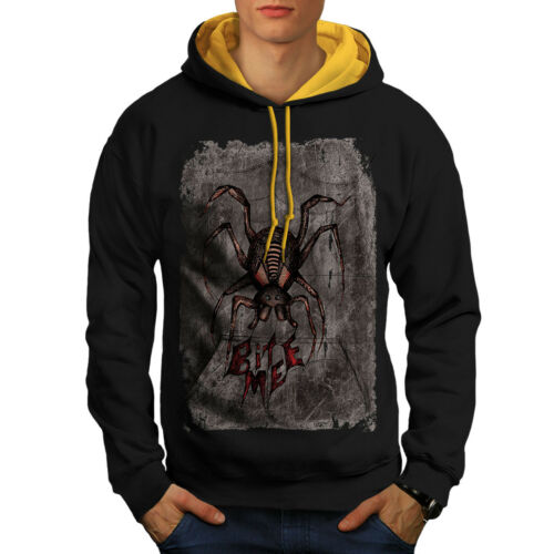 Animal Spider Bite Men Hood New Hoodie Black Beast Contrast gold q414a