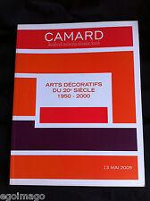 """SUPERBE CATALOGUE DE VENTES """"ARTS DÉCORATIFS du XXe """" CAMARD  PARIS 13 Mai 2009"""