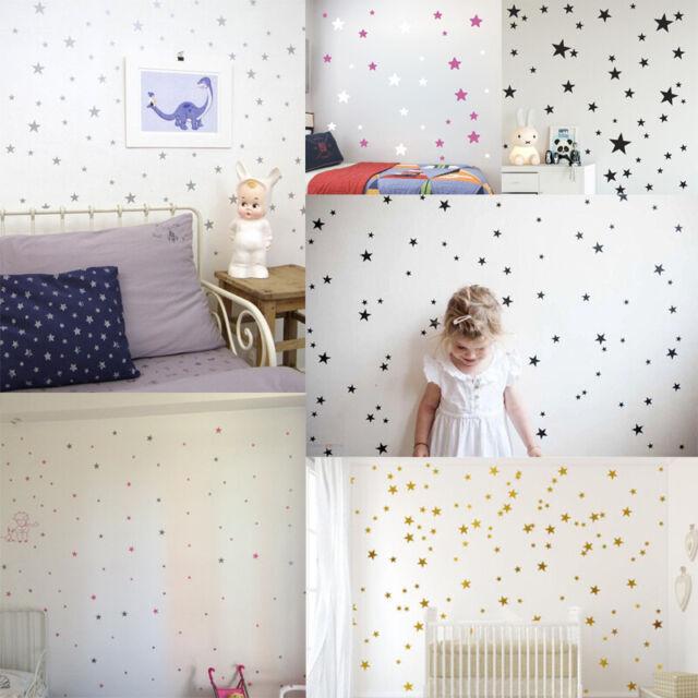 Various Size Stars Wall Art Vinyl Decal Stickers Kid Nursery Bedroom Decoration