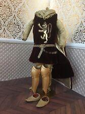 Medieval Gold Chain Mail Armor Velvet Prince Ken Barbie Doll 1/6 King Arthur