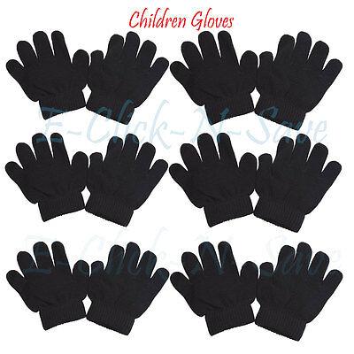 "Kids Children/'s Black Winter Magic Gloves ""wholesale"""