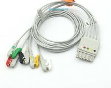 Hp 78352c Ecg Cable With 5 Leadwire Grabber Clip Iec