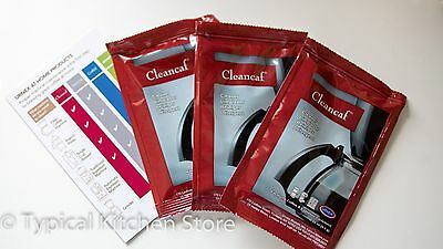 CleanCaf Coffee Espresso Machine Cleaner Descaler 3x