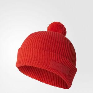 Image is loading Adidas-BR2708-unisex-originals-pompom-Beanie-knitwear-cap- 1dae9432b90