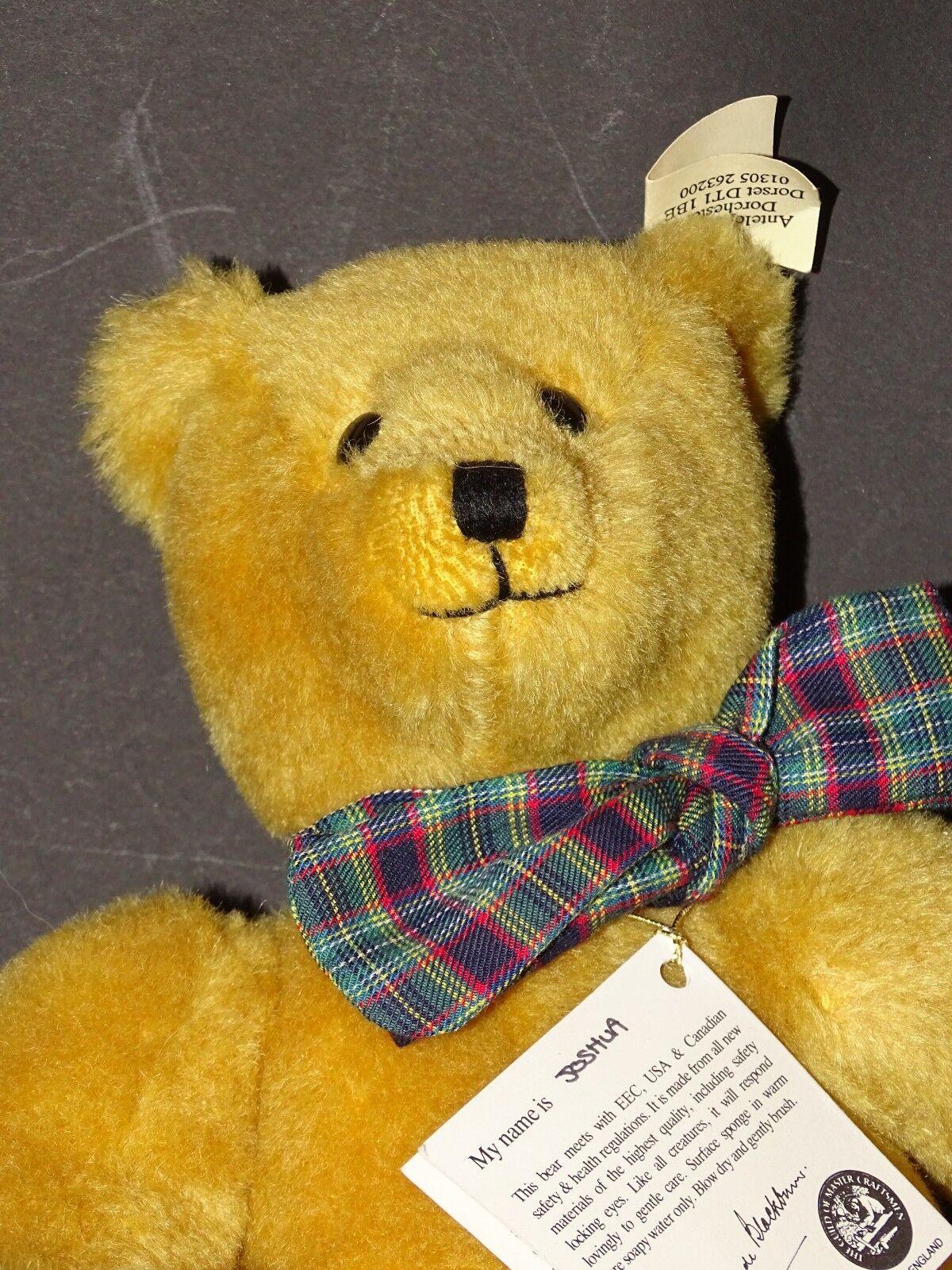 Teddy da collezione Canterbury Bears  Joshua , mohair, Mattoncini