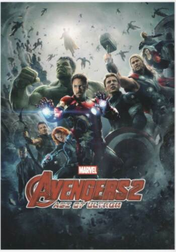 2 X IRON ON Transfer Avengers Cartoon 28.5 X 20 cm