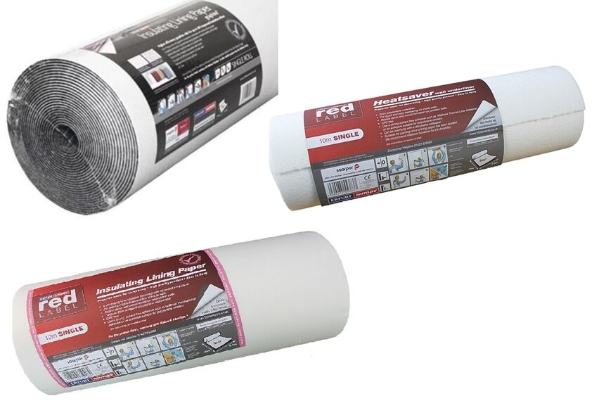 Heatsaver Wallpaper Underliner Paper Insulation Thermal Lining 2mm 4mm Graphite