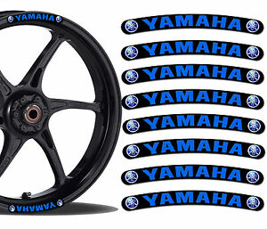 8 yamaha felgenrandaufkleber aufkleber auto moto gp. Black Bedroom Furniture Sets. Home Design Ideas
