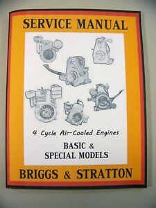 Briggs stratton 8r4d 8r6 engine service shop overhaul repair.
