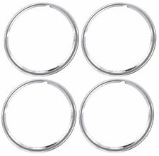 """16"""" Chrome Stainless Steel HOT ROD STYLE SMOOTH Beauty Rings TRIM RING SET Of 4"""