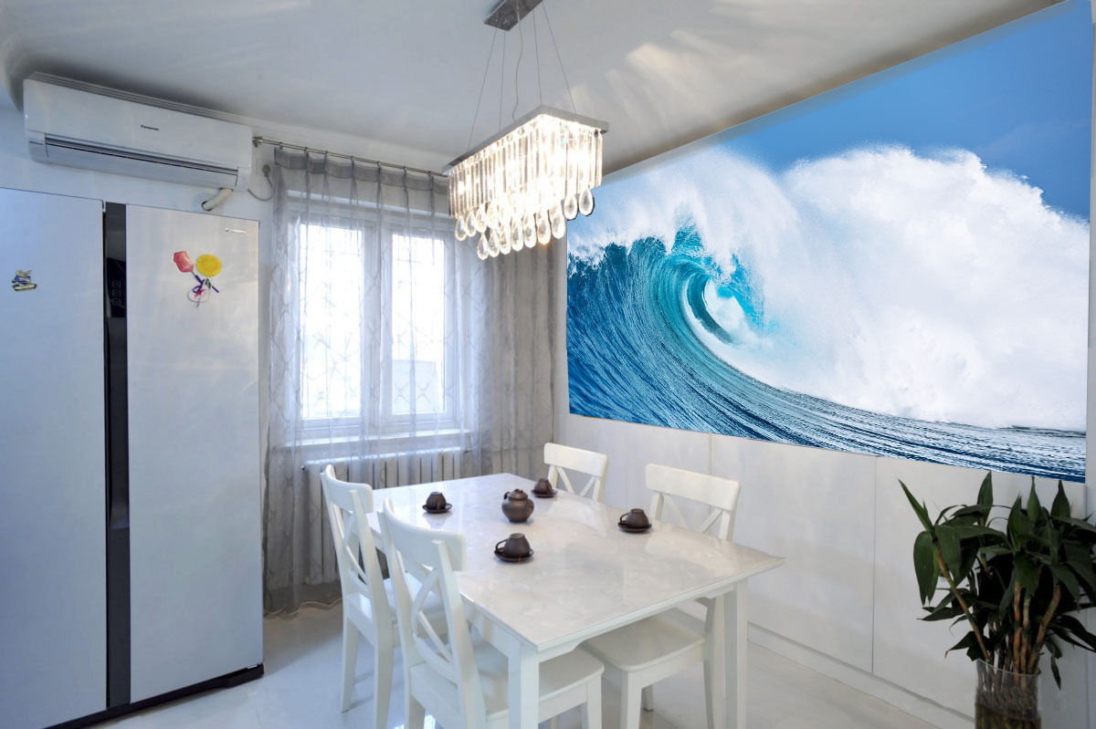 3D Huge Rolling Wave 30 Wall Paper Wall Print Decal Wall Deco Wall Indoor Murals