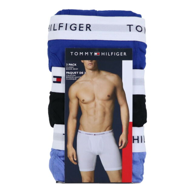 TOMMY JOHN 2-Pack BLACK//PURPLE LARGE Boxer Briefs NWT!