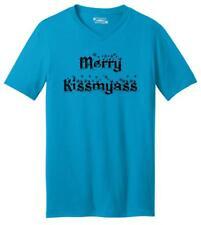Merry Kiss My Ass Funny Cool S-5XL Gift Mens//Womens Novelty Tee Xmas Man 3505