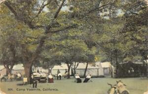 Image is loading CAMP-YOSEMITE-Tent-Cabins-California-C&ing-Scene-1909- & CAMP YOSEMITE Tent Cabins California Camping Scene 1909 Vintage ...