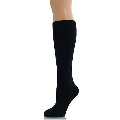 3 Black Pairs Women Ladies Girls School Knee High Cotton Plain Long Socks Reinweiß Und LichtdurchläSsig