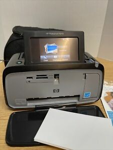 HP Photosmart A646 Digital Photo Inkjet Printer 4x6 Bluetooth w/Bag, Paper, AC