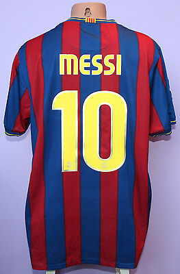 MESSI # 10 FC BARCELONA 2009/2010 HOME SHIRT NIKE SIZE XL