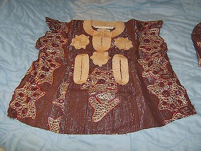Ragazzi Costume Da Africano Ragazzi Tunica, Pantaloni, Cappello-dalla Nigeria 1990s Vintage-mostra Il Titolo Originale Buon Sapore