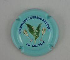 NOUVELLE capsule champagne LEGRAND BROQUET relief 1er mai fleur coupe2015 bleu