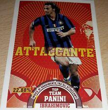 AGGIORNAMENTO FIGURINE CALCIATORI PANINI 2007/08 INTER IBRAHIMOVIC T9 ALBUM