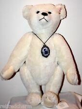 ❤Steiff Margarete Teddy Bear w/ Scrapbook 420009 NeW White Alpaca in Box & COA❤