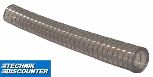 Abwasserschlauch Stahlspirale Saugschlauch Spiralschlauch transparent  METERWARE