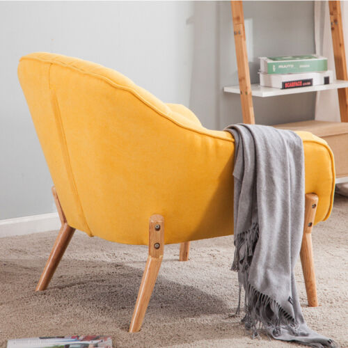 Modern Linen Fabric Tub Chair Sofa ChairS Dining Living Room Lounge Office Seat Yellow,Grey,Sky blue,Rose red