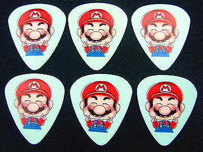 10pcs 0.49mm Super Mario Musical Accessories Guitar Picks Guitar Plectrums