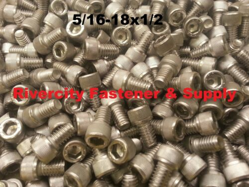 5//16-18x1//2 Socket Allen Head Cap Screw Stainless Steel 5//16 x 1//2 100