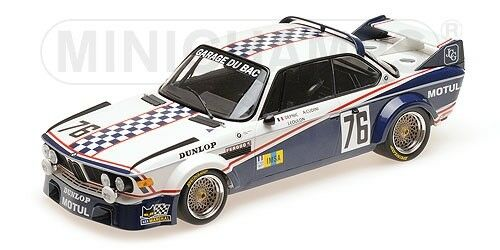 Minichamps - BMW 3.0 CSL GARAGE DU BAC DEPIC COULON 24H LE MANS 1977 1  18