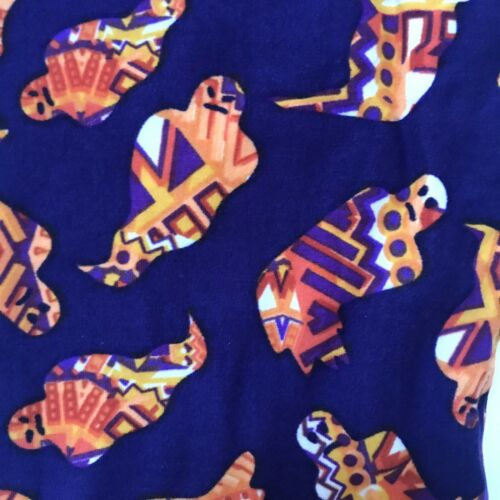 Details about  /BNWT Lularoe Halloween Kids Leggings Kids L//XL Purple With Orange Ghosts